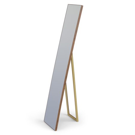 Contemporary Mirror Collection (Brooklyn + Max Anais 60 inch x 10 inch Rectangle Contemporary Standing Décor Mirror in Natural )