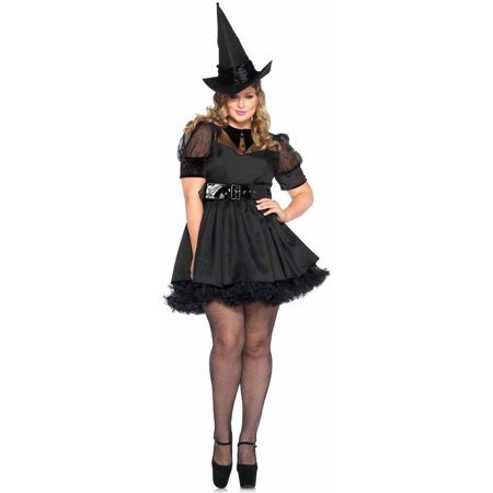 Leg Avenue Women's Plus-Size Bewitching Witch Costume, Black, - Woman Witch Costume