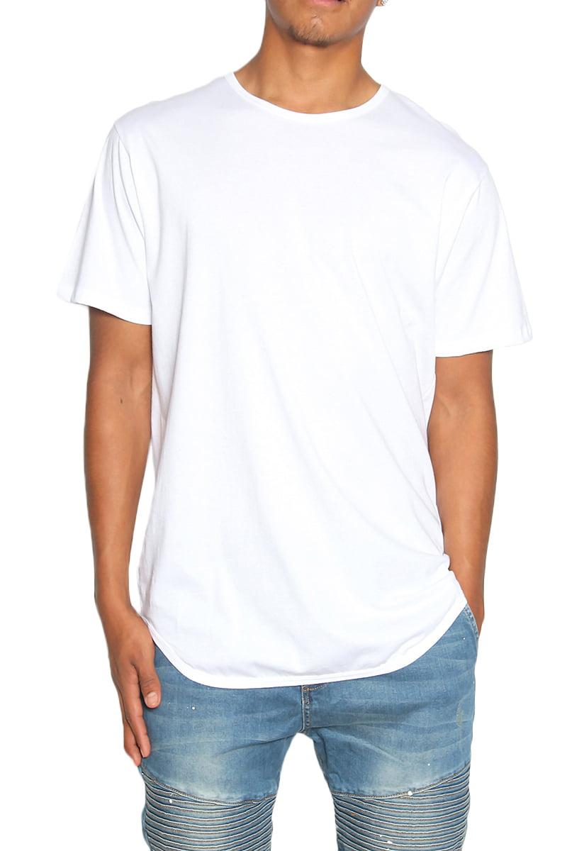 extended white tee
