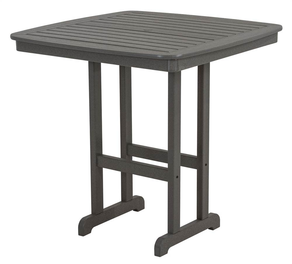 Nautical 42.5 in. Pub Table in Slate Gray by Polywood