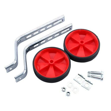 Ejoyous 2Pcs Adjustable Training Side Wheels Stabilizer for Children 12-20  Bicycle Balance(Red) - image 7 de 7