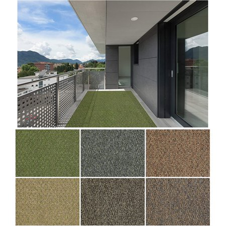 3x5' Holly Leaf - Indoor Outdoor Custom Cut Area Rug Carpet Runners with a Premium Fabric Finished Edges