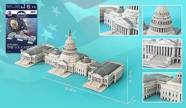 Us Capitol Building 132 Piece 3D Puzzle by