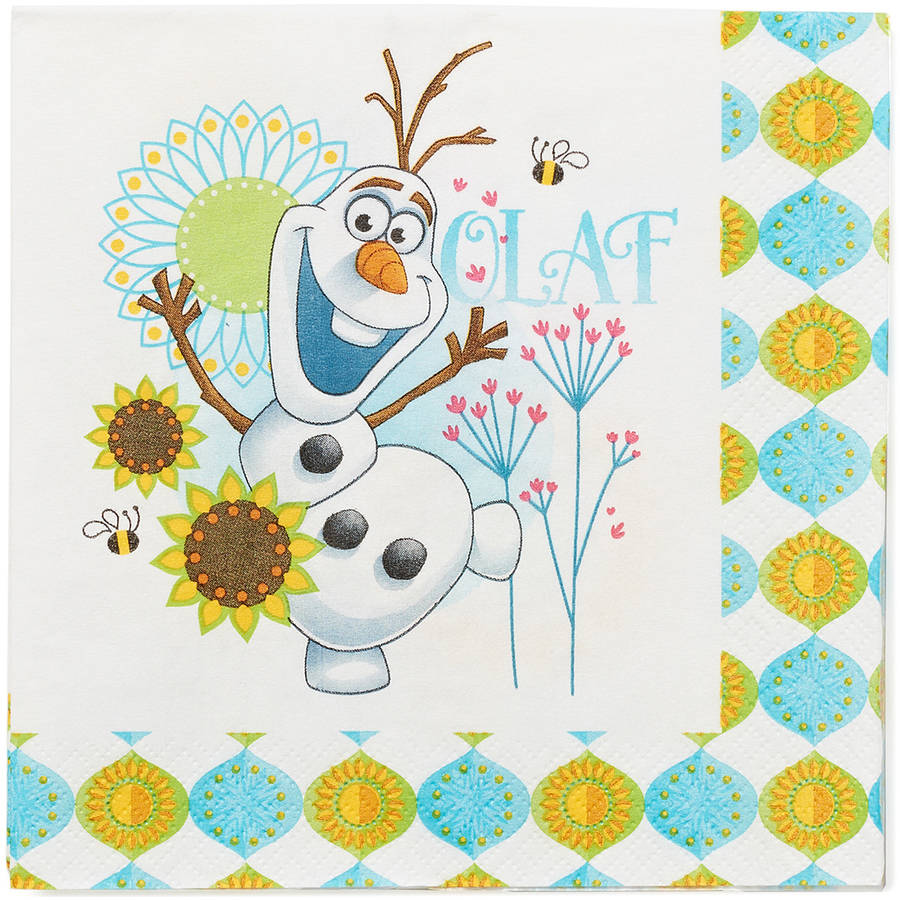 Frozen Fever Party Paper Lunch Napkins, 16ct