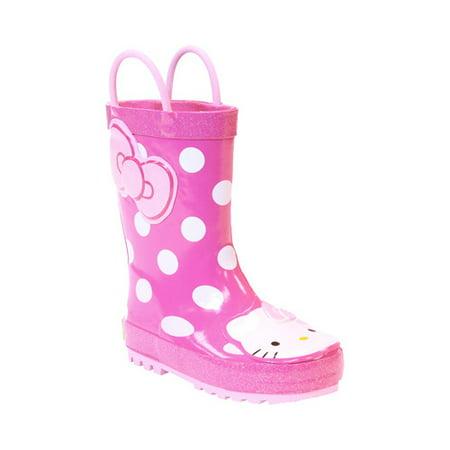 Girls' Western Chief Hello Kitty Cutie Dot Rain Boot