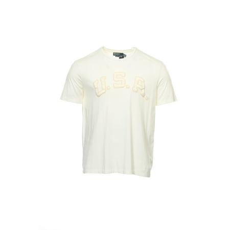Polo by Ralph Lauren Men's Ivory T-Shirt