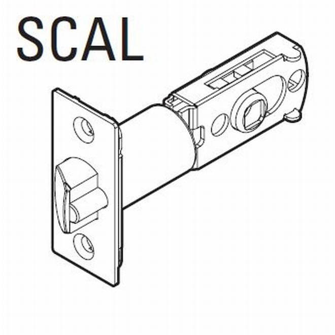 Kwikset 83520-15 UL Adjustable Square Corner Springlatch Satin Nickel Finish