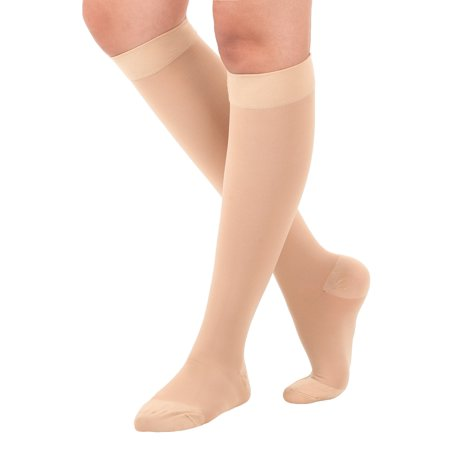 Made in the USA - Opaque Medical Compression Socks, Knee-Hi - Firm Graduated Medical Support Stockings 20-30mmHg  Unisex, Closed Toe, 1 Pair -  Absolute Support, Sku: