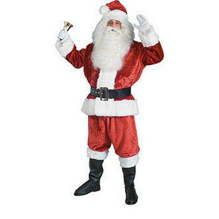 Santa Imperial Crimson Suit Adult Costume - One Size 40-48