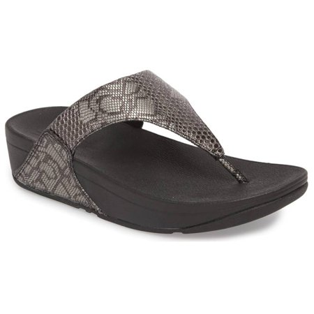 fitflop lulu women's python leather toe thong sandals -
