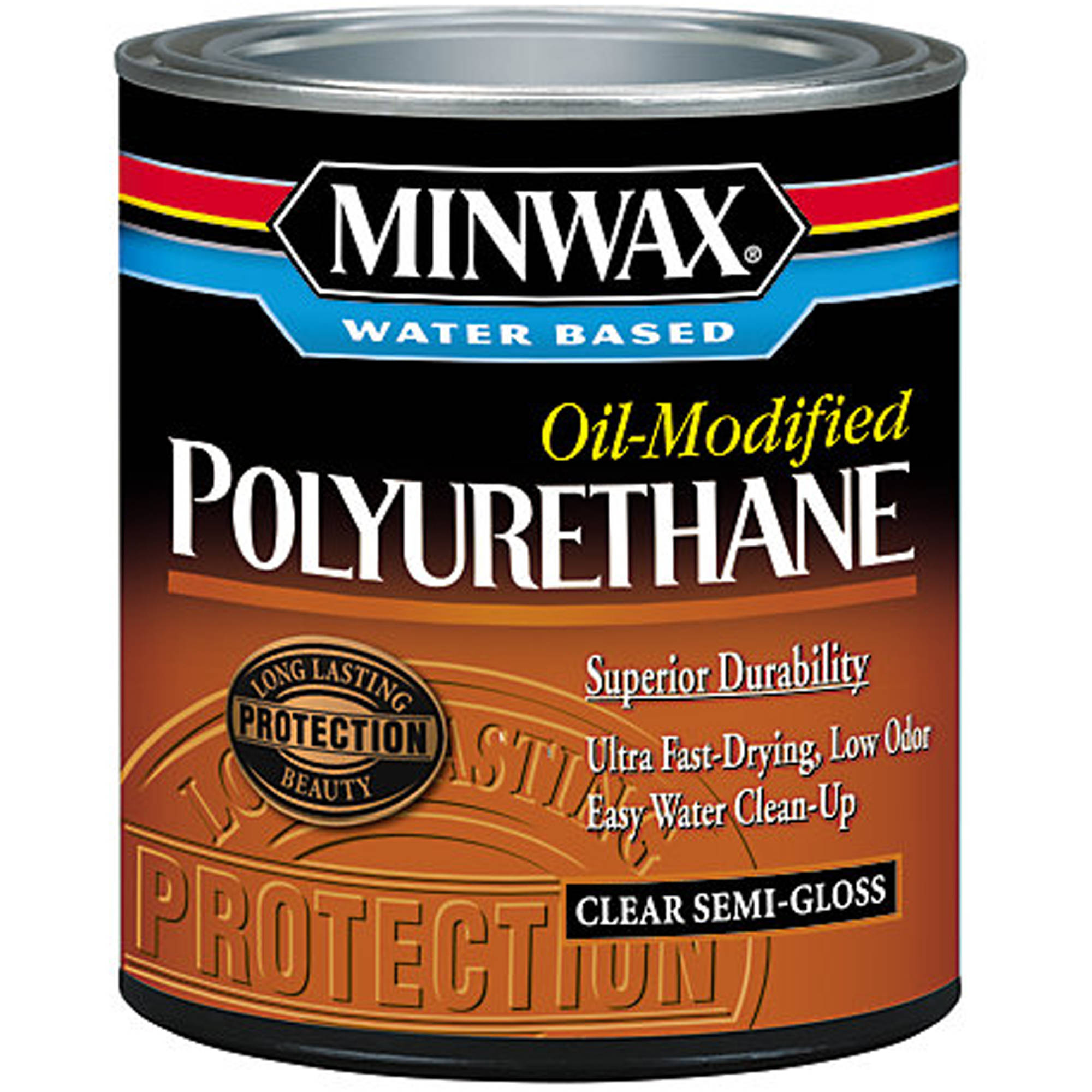 Minwax Water Based Oil-Modified Polyurethane, 1/2 pt, Semi-Gloss
