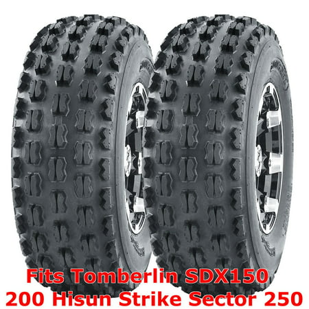 2 ATV Tires 22x7-10 Tomberlin SDX150 200 Hisun Strike Sector 250 front GNCC