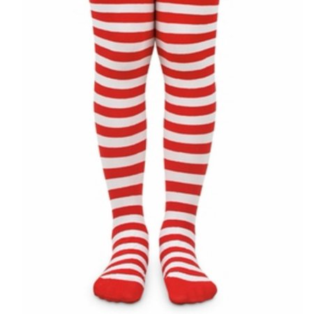 Little Girls Red White Stripe Pattern Christmas Tights 2-6](Red Striped Tights)