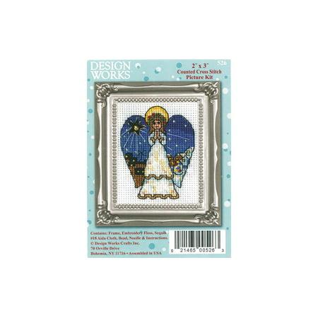 Design Works Cross Stitch Kit 2x3 Angel Cross Stitch Kit Design