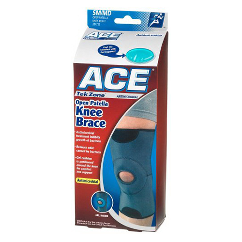 Image of Ace Tekzone Knee Brace Open Patella, Small Or Medium - 1 Ea
