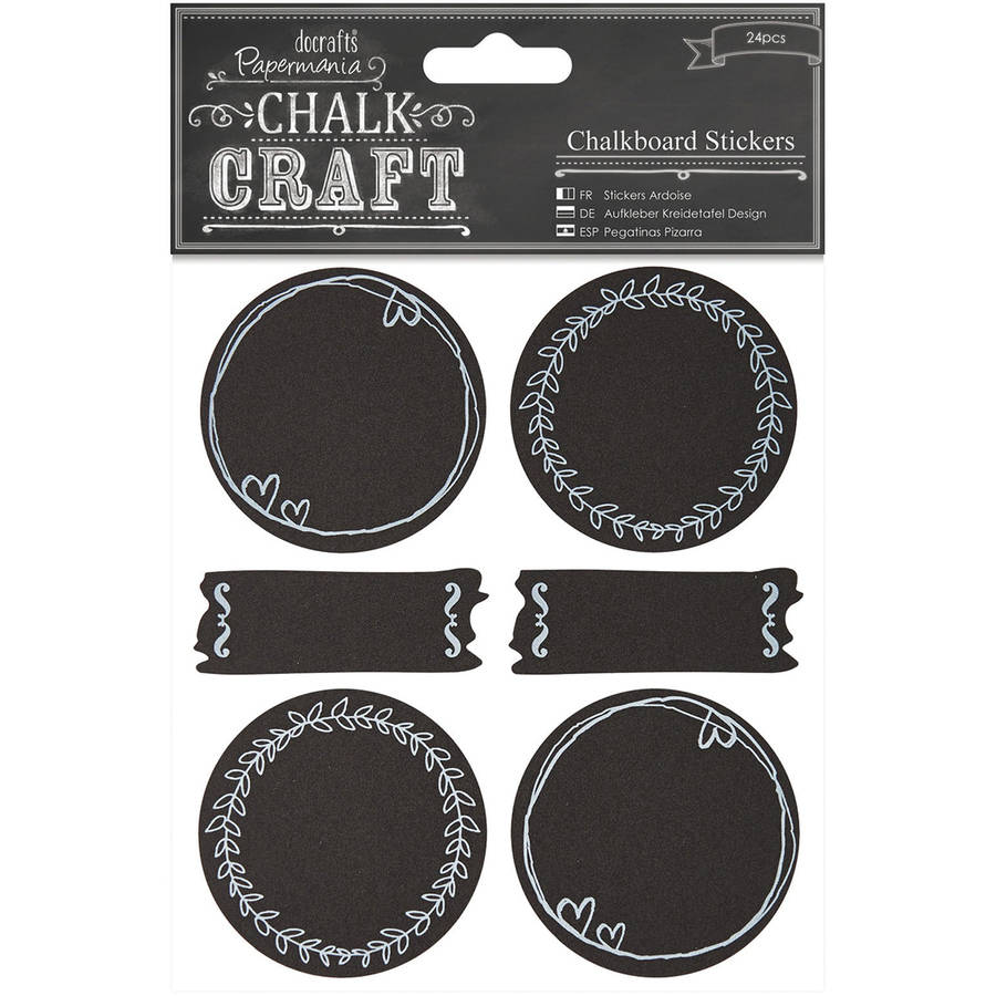 Chalk Craft Chalkboard Stickers, 24-Pack