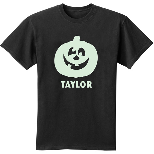 Personalized Glow-in-the-Dark Youth T-Shirt, Pumpkin
