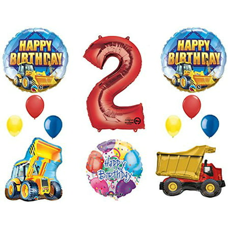The Ultimate Construction 2nd Birthday Party Supplies and Balloon Decorations - Construction Birthday Party