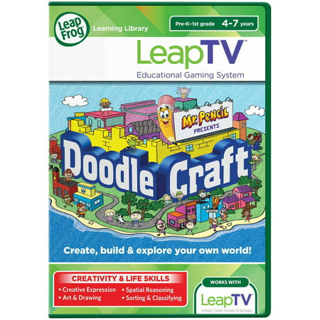 LeapFrog LeapTV Mr. Pencil Presents DoodleCraft Educational, Active Video Game