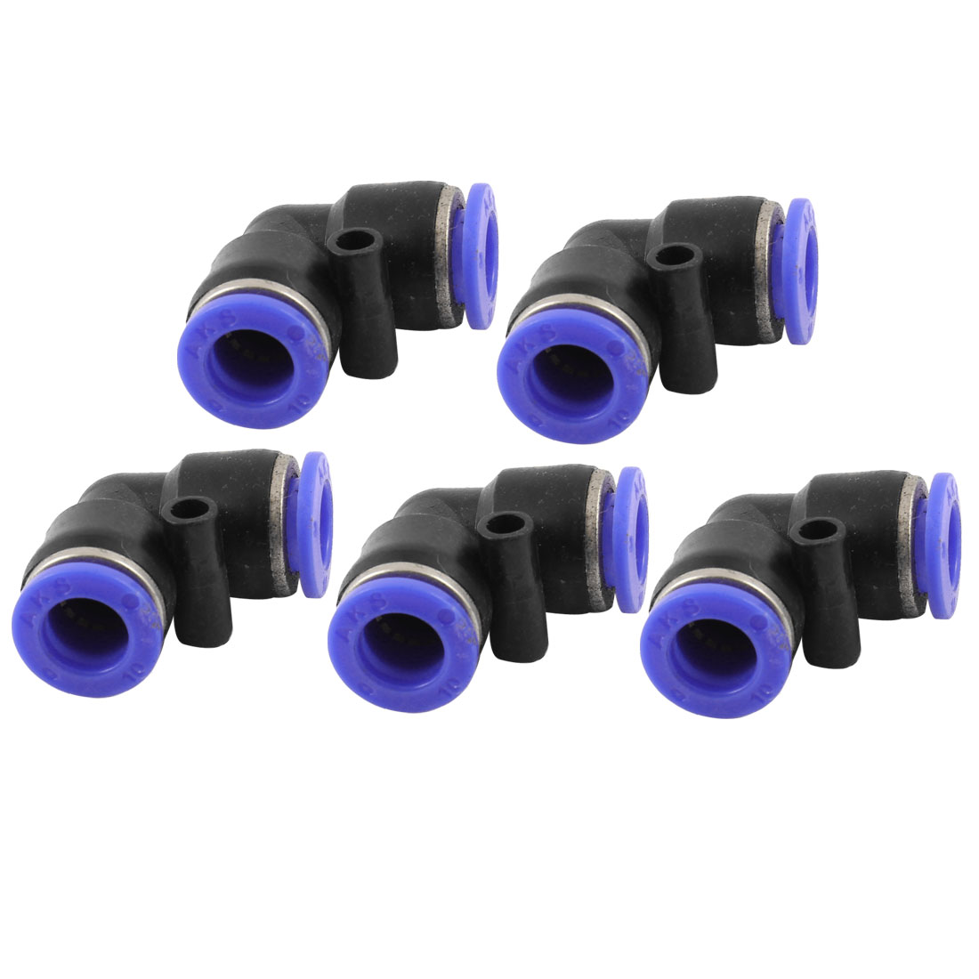 "5 Pcs 2/5"" to 2/5"" Elbow Quick Connect Tube Fittings for Water Filter System"