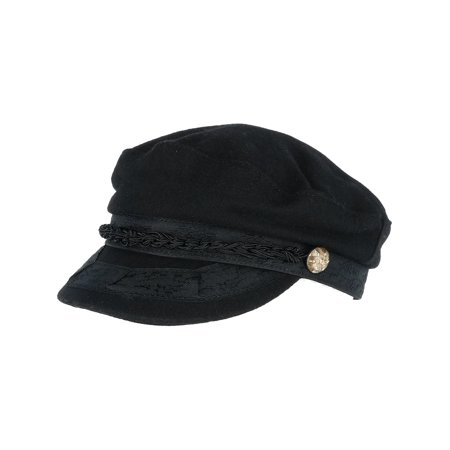 Men's Greek Fisherman Hat with Braided Band,  Black