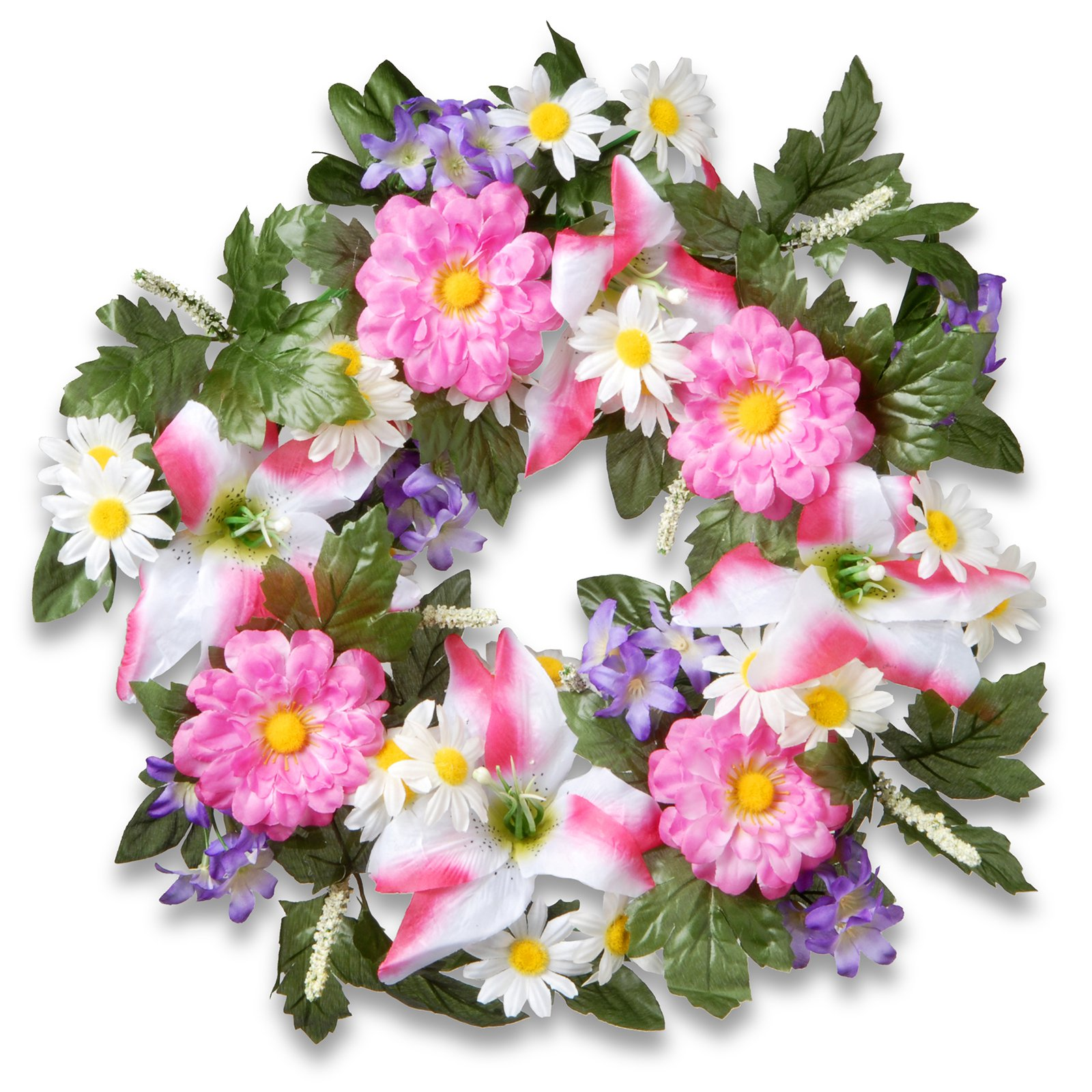 "18"" Daisy and Tiger Lily Wreath"