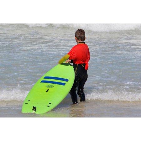 Poster Surfboard (LAMINATED POSTER Surfboard Child Boy Sports People Surf Challenge Poster Print 24 x 36 )