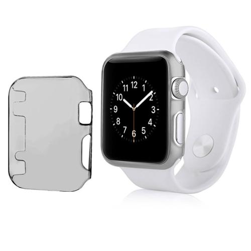 Insten For Apple Watch iWatch 42mm Clip-on Hard Protective Crystal Case Clear Black