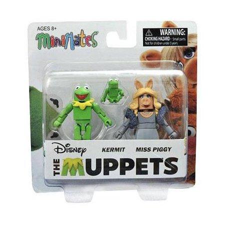 The Muppets Kermit & Miss Piggy Minimates (Kermit Ms Piggy)