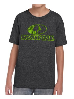 c379d2719f790 Product Image Mossy Oak Youth Black Front Logo Hunting kid's T-Shirt (Small)