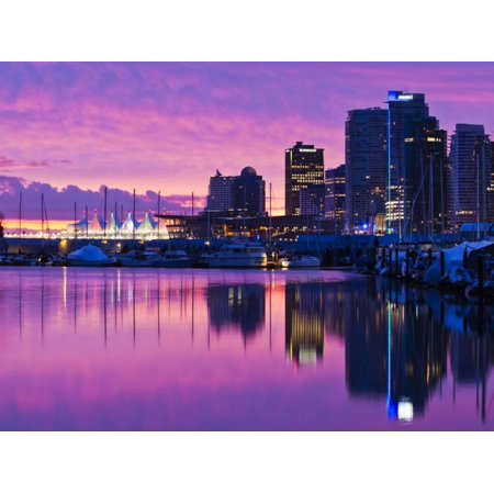 Canada, British Columbia, Vancouver, City View and Canada Place from Coal Harbour Print Wall Art By Walter Bibikow