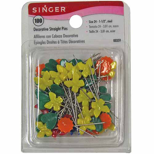 Singer Decorative Straight Pins, 100pk