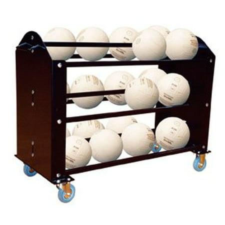 First Team LTR24 Vinyl Lettering for Ball Hog Super Duty Volleyball Carrier44; Black - Black Super Balls