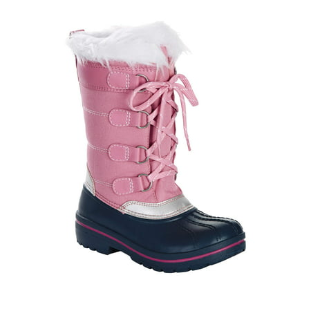 Wonder Nation Flurry Faux Fur Lined Snow Boot (Little Girls & Big Girls)