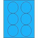 "3 1/3"" Round Brilliant Blue Labels for Laser Printers, Inkjet Printers or Copier Machines. (GLC330BB)"