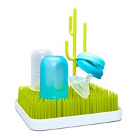 Boon Lawn Countertop Drying Rack, Low-Profile Easy To Clean Baby Bottle Drying Rack, Green