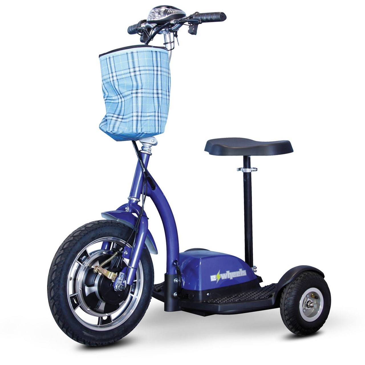 E-Wheels EW-18 Stand-N-Ride 3-Wheel Electric Mobility Scooter Blue by Electric Wheels LLC