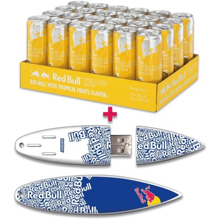 red bull 24 pack 12 ounce yellow edition energy drink and. Black Bedroom Furniture Sets. Home Design Ideas