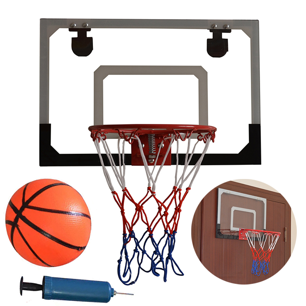 Zimtown Clear Miniature Basketball Backboard Wall-Mount Hoops and Goals with Ball and Pump (Needle is contained into the air pump)