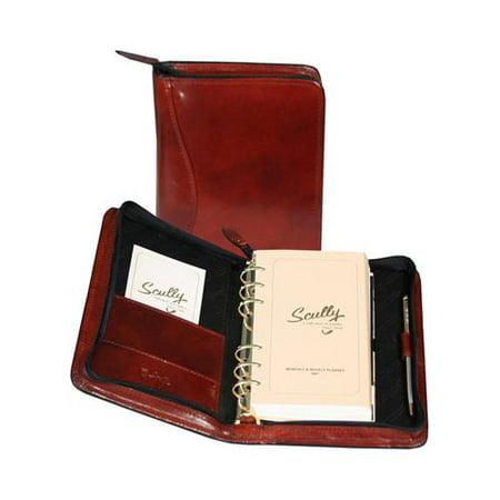 Zip Weekly Organizer Italian Leather 8002Z 5.75 x 8 x 1.75