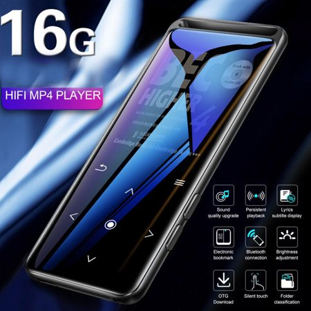 BENJIE M6 Bluetooth 5.0 Lossless MP3 Player HiFi Portable Audio Player with FM Radio E-Book Voice Recorder MP3 Music Player black 16GB without Bluetooth version (Lonve 16gb Mp3 Player)