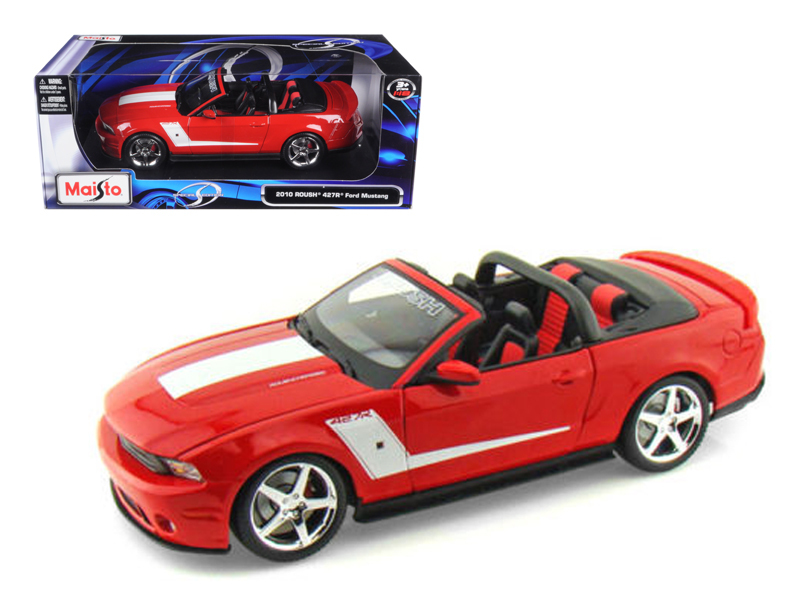 2010 Ford Mustang Convertible 427R Roush Edition Red 1 18 Diecast Model Car by Maisto by Diecast Dropshipper