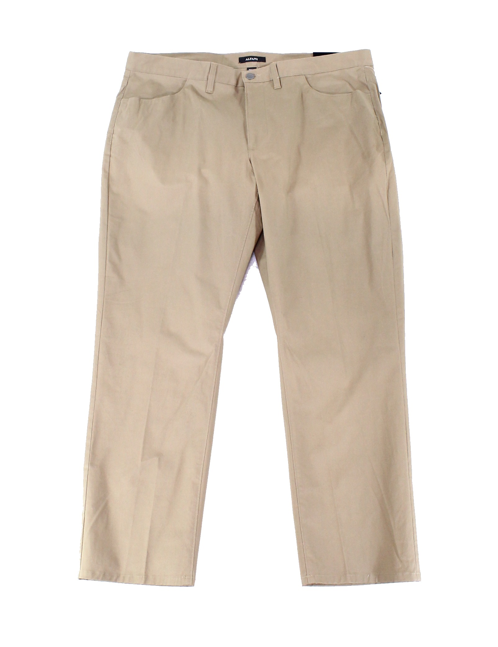 Alfani Mens 33x30 Button-Front Flat-Front Pants Stretch