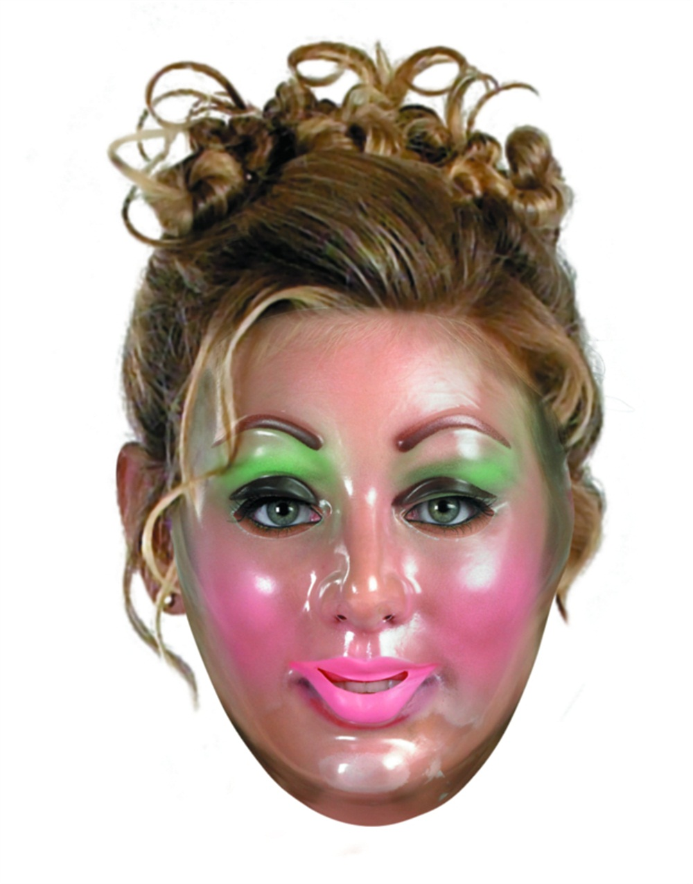 Plastic Young Female Transparent Mask Halloween Accessory ...