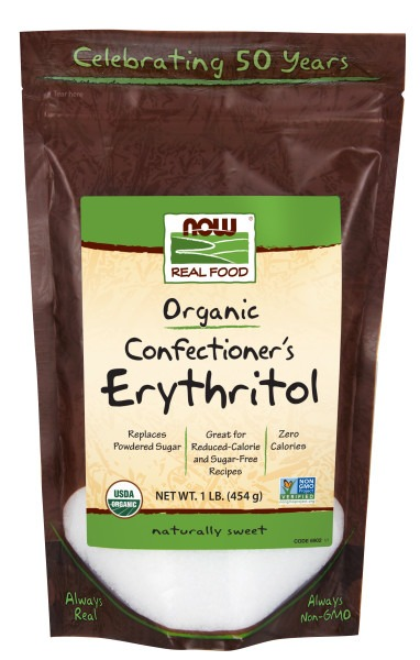 Organic Confectioner's Erythritol Now Foods 1 lb Powder