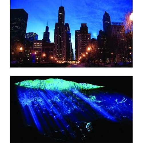 "GloFish Aquarium Background - Cave & Cityscape 12""H x 20""W - (Aquariums up to 10 Gallons)"