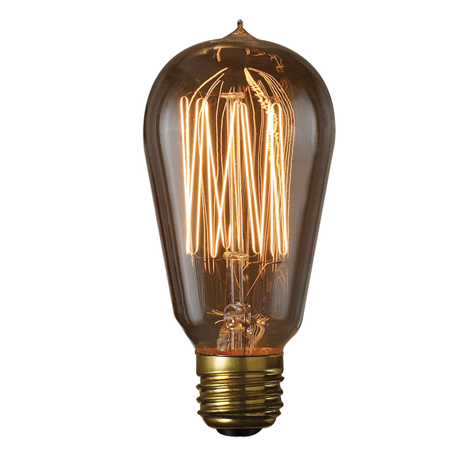 Bulbrite Incandescent 1910 Thread Filament Light Bulb, Warm White, 60W, 1 Ct
