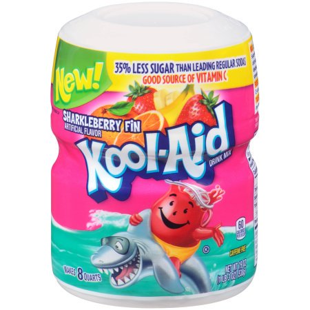 (6 Pack) Kool-Aid Sugar-Sweetened Sharkleberry Fin Powdered Soft Drink, 19 oz Can