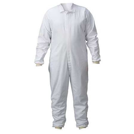 LAKELAND C314-2466 Lab Coverall, Chest Sz 66, 62x30, White