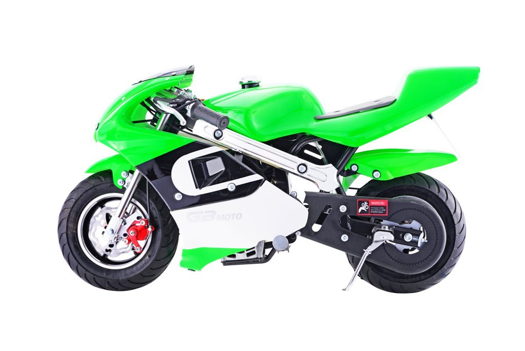New 40CC 4-Stroke Gas Power Mini Pocket Motorcycle Ride-on Bike, EPA Certificated- Green by